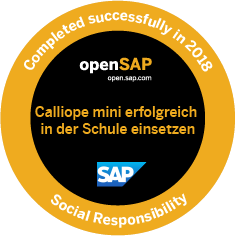 Calliope Mini openSAP Badge